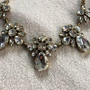 J Crew Classic Gemstone Statement Necklace